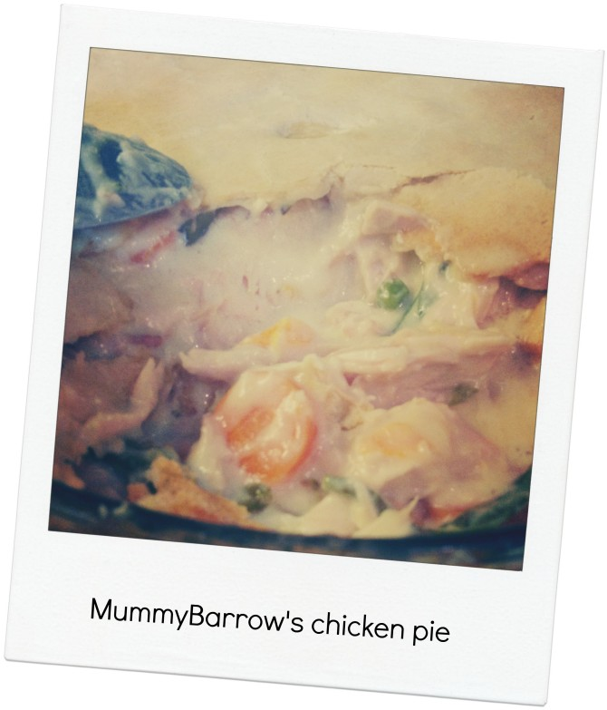 Can't cook — Can't cook — Mummy Barrow's chicken pie