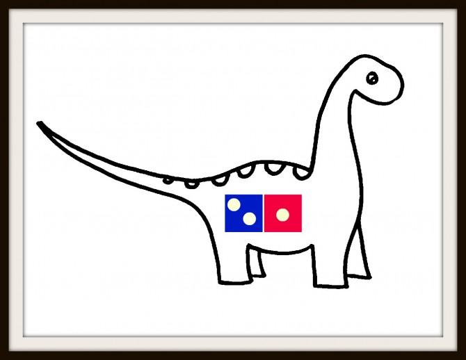 Who knew Dominos delivered dinosaurs