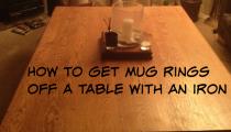 Getting mug rings off a table