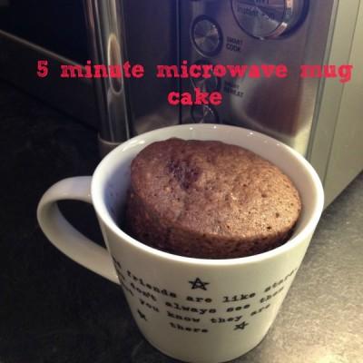 Five minute microwave mug cake