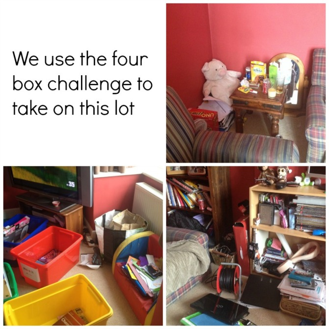 The four box room tidy challenge