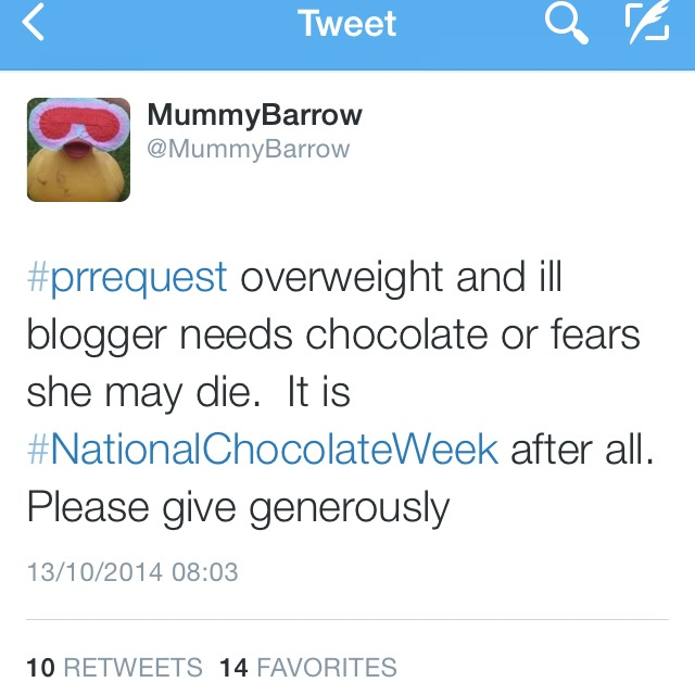 #PRRequest and some chocolately treats