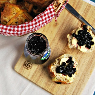 Hot Cross Buns with jam