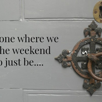The one where we got the weekend off to just be